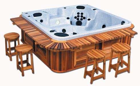 Cedar Wood Bar Package With Stools Hartlebury Arctic
