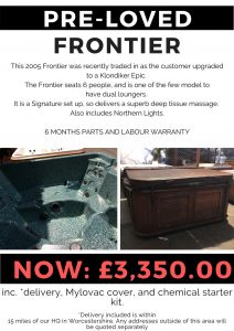 pre-loved spa offer frontier