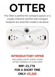 massive savings! introductory offer on our core series hot tubs – otter